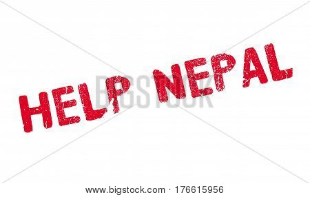 Help Nepal rubber stamp. Grunge design with dust scratches. Effects can be easily removed for a clean, crisp look. Color is easily changed.