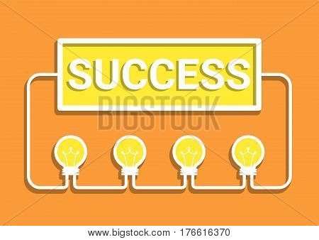 idea success concept, creative idea, business brainstorm concept, share idea concept with light bulb, creative design, vector illustration, flat design