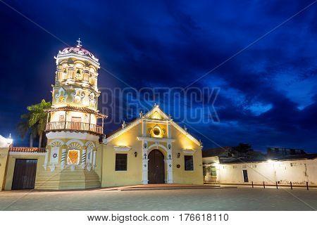 Santa Barbara Church At Night