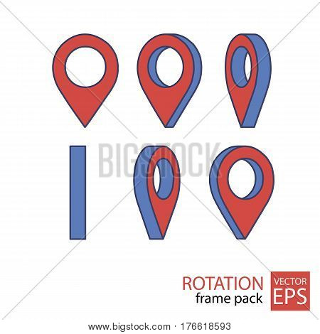 location rotating icon set of frames for animation