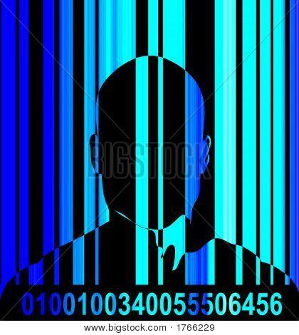 Barcode And Man