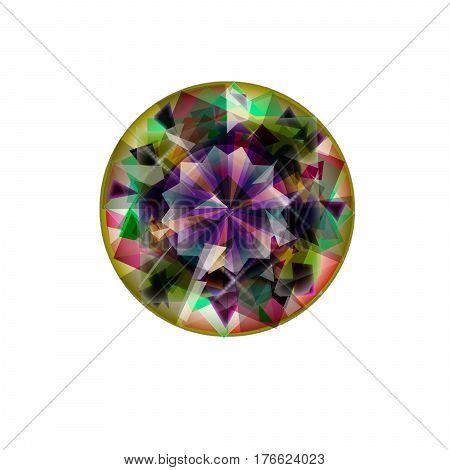 Isolated jewel flat icon on white background. diamond symbol. gemstone symbol