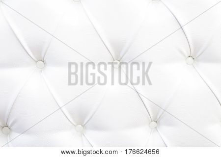 White Leather Upholstery Background. the white texture