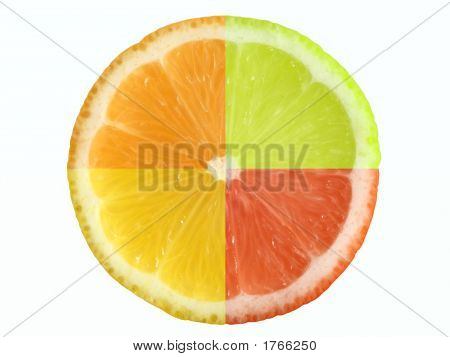 Citrus Fruit With Clipping Path