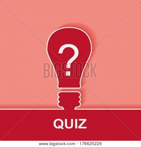 Quiz with question marks sign icon. Questions and answers game symbol. Vector illustration.