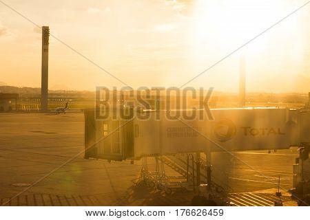 Rio De Janeiro, Rj / Brazil - March 04 2017. Rio De Janeiro Airport