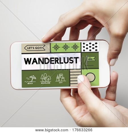 Wander wanderlust travel outdoors graphic poster