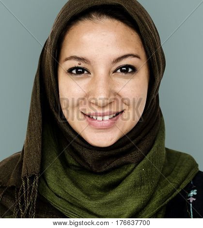 Woman standing and posing for photoshoot close up