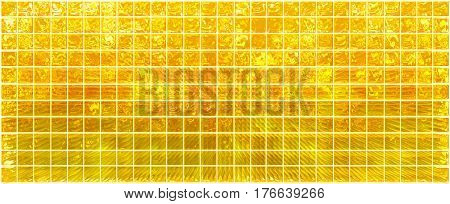 Banner of the iridescent  golden  squares on a white