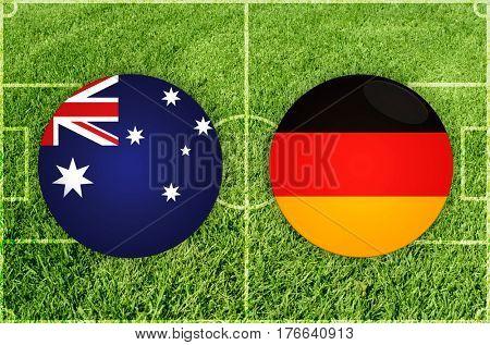 Confederations Cup football match Australia vs Germany