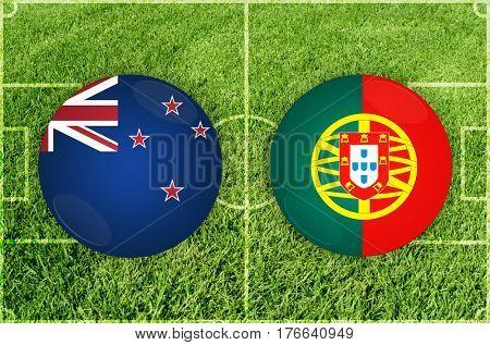 Confederations Cup football match New Zealand vs Portugal