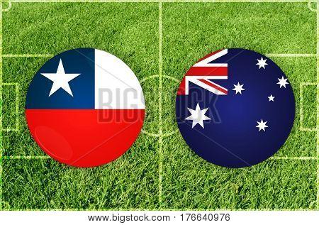 Confederations Cup football match Chile vs Australia