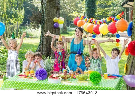 Party Entertainer With Children