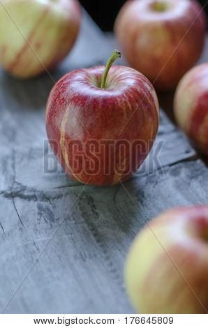 Some delicious and color full apples on the table