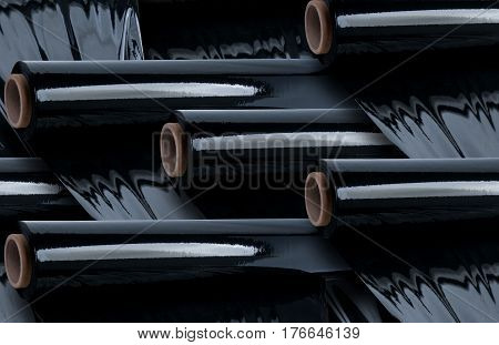 Multi Black stretch film roll for industry use