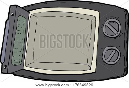 Open Microwave Oven Cartoon