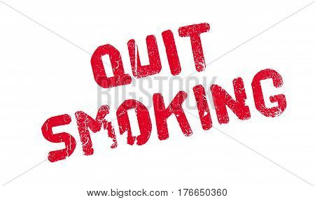 Quit Smoking rubber stamp. Grunge design with dust scratches. Effects can be easily removed for a clean, crisp look. Color is easily changed.