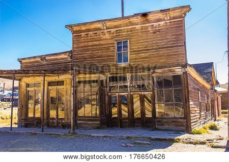 Vintage Wood Storefront Building In California Ghost Town