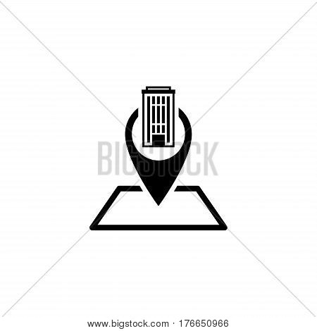 Location Icon. Flat Design. Business Concept Isolated Illustration