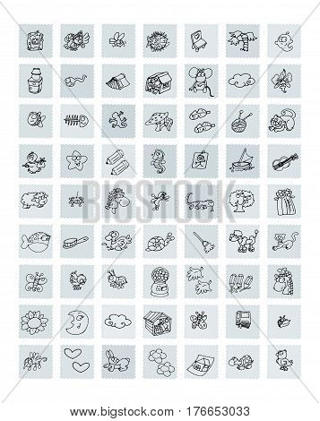 Icons for humorous object sites and animals