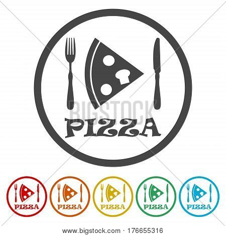 Icon pizza, flat icon pizza, vector icon pizza