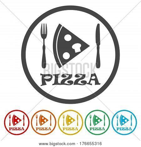 Icon pizza, flat icon pizza, vector icon pizza