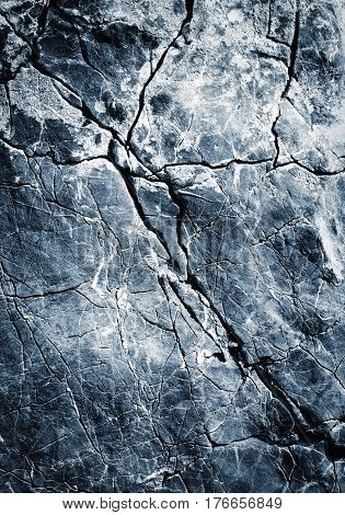 abstract background or texture blue oblique fissure limestone