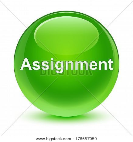 Assignment Glassy Green Round Button
