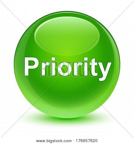 Priority Glassy Green Round Button