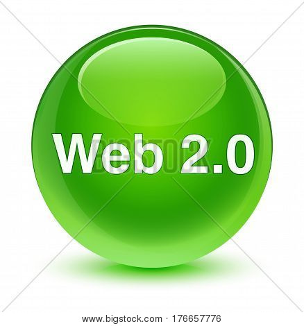 Web 2.0 Glassy Green Round Button