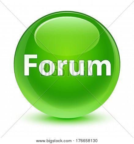 Forum Glassy Green Round Button