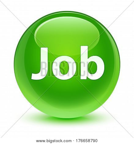 Job Glassy Green Round Button