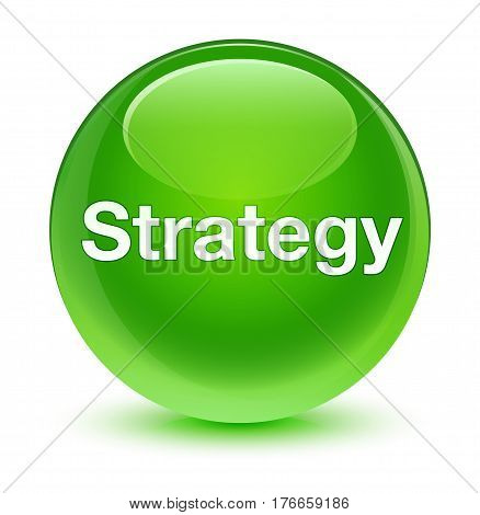 Strategy Glassy Green Round Button