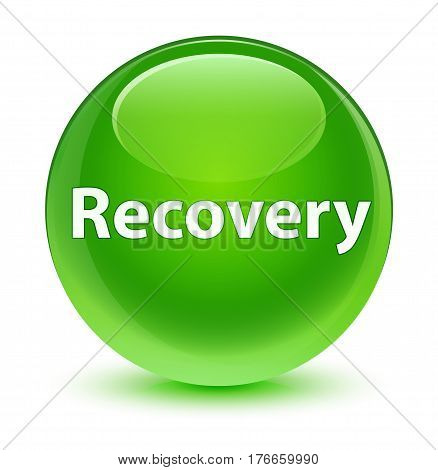 Recovery Glassy Green Round Button