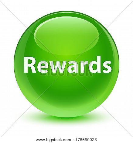 Rewards Glassy Green Round Button