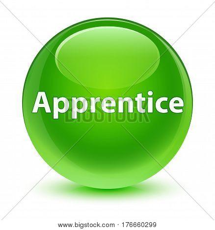 Apprentice Glassy Green Round Button