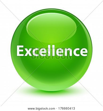 Excellence Glassy Green Round Button