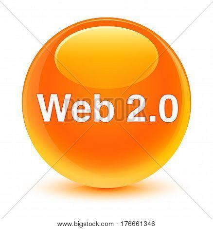 Web 2.0 Glassy Orange Round Button
