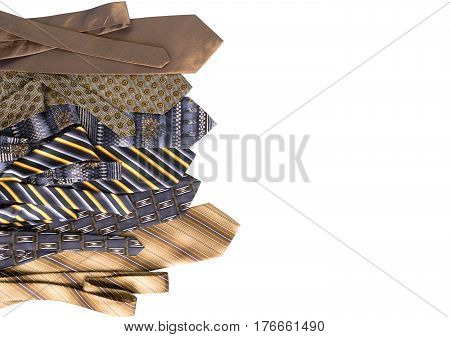 Neckties Isolated On White Background