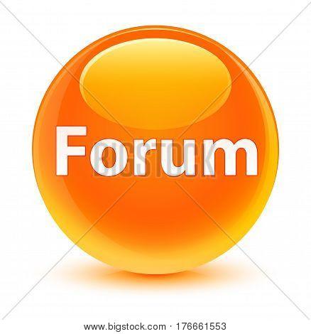 Forum Glassy Orange Round Button