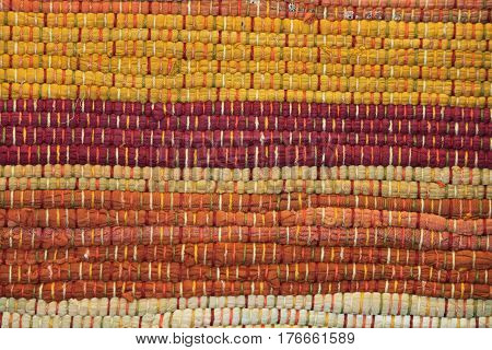 Woven Fabric Tapestry in Earth Tone Colors
