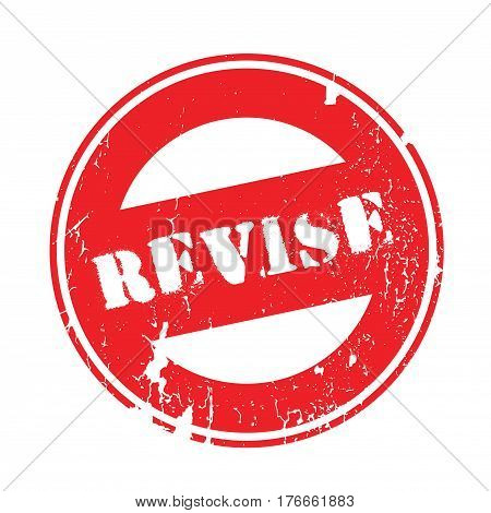 Revise rubber stamp. Grunge design with dust scratches. Effects can be easily removed for a clean, crisp look. Color is easily changed.