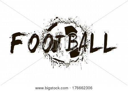 Banner The Inscription Football On The Background Abstract Socce