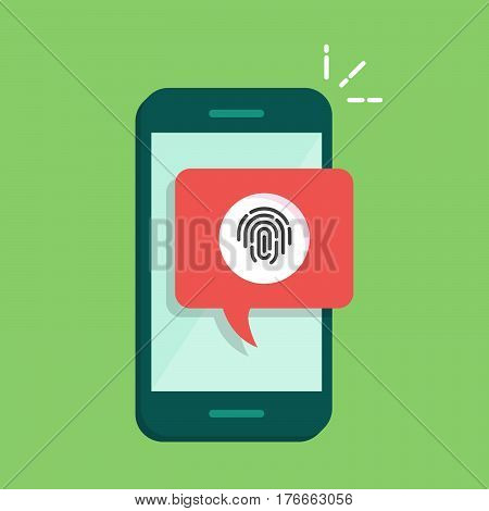 Dialog box on the phone with a suggestion to scan a fingerprint. Quick way to authorize in a mobile application