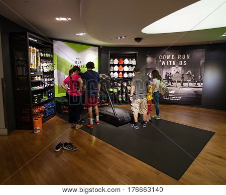 Niketown Athletic Apparel Store In Nyc