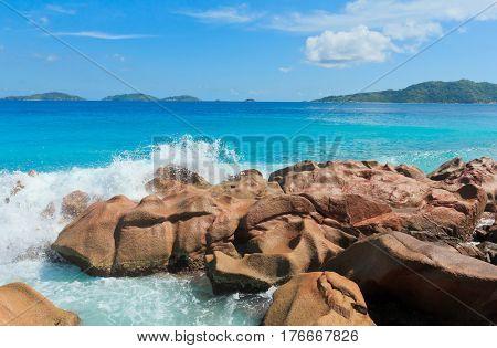 Magnificent Seychelles Rocky Beach
