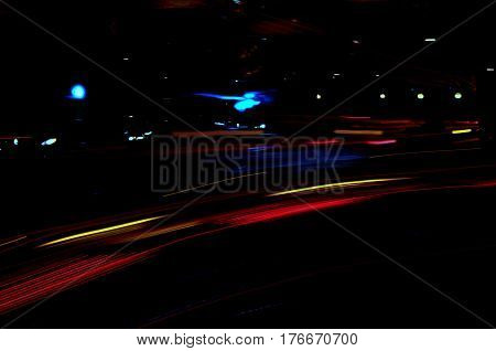 tail lights abstract street scene background walpaper at night
