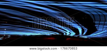 waves of lights at night scene abstract background