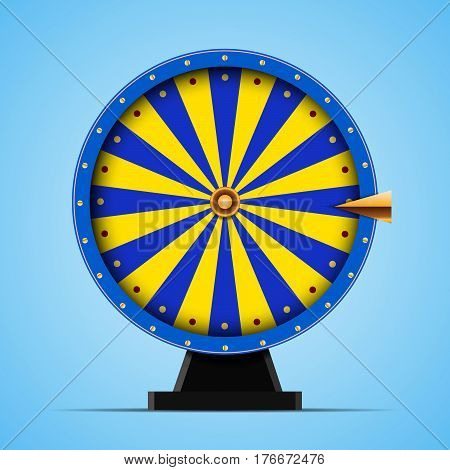 Blue Wheel of fortune vector Illustration eps 10