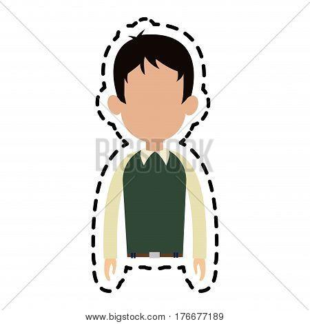 faceless nerdy man cartoon icon image vector illustration design